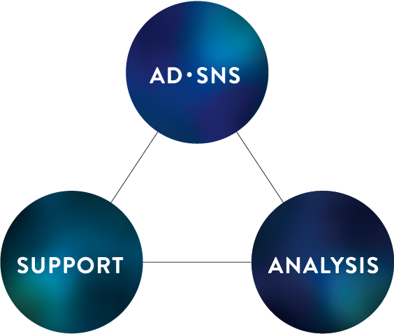 AD・SNS SUPPORT ANALYSIS